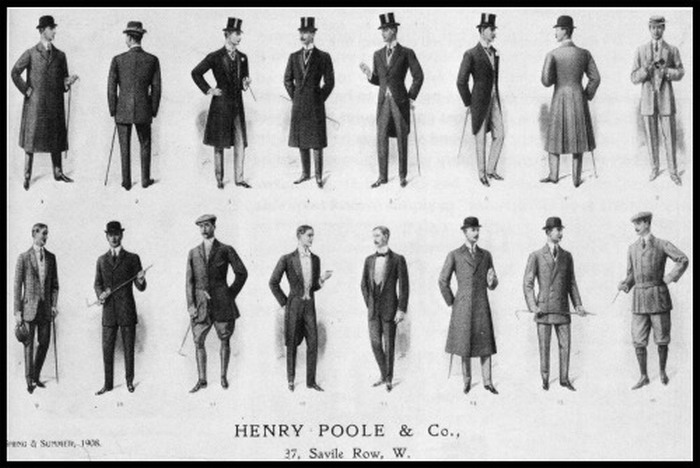 Men's Coats, Savile Row, London, 1908