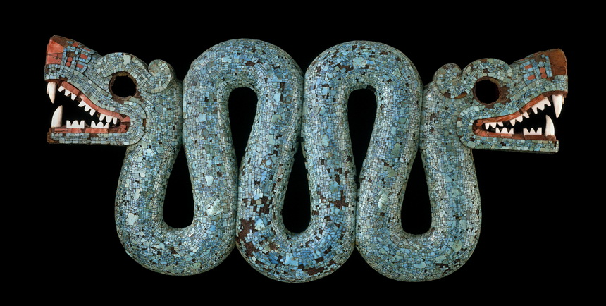 Ancient turquoise snake,Mexico