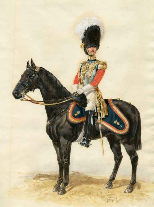 Officer of the 2nd Life Guards, 1835, Great Britain, plate by R. Wymer