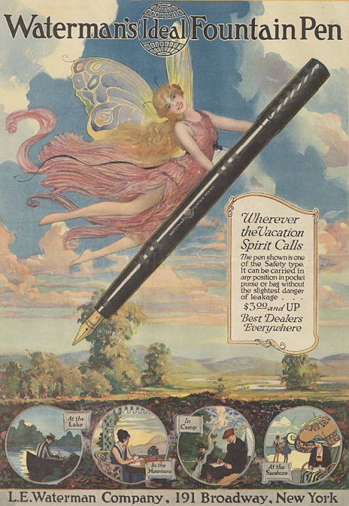Fountain pen ad, circa 1900