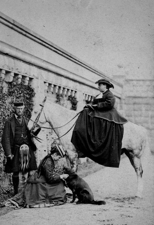 Queen Victoria on horseback, 1868