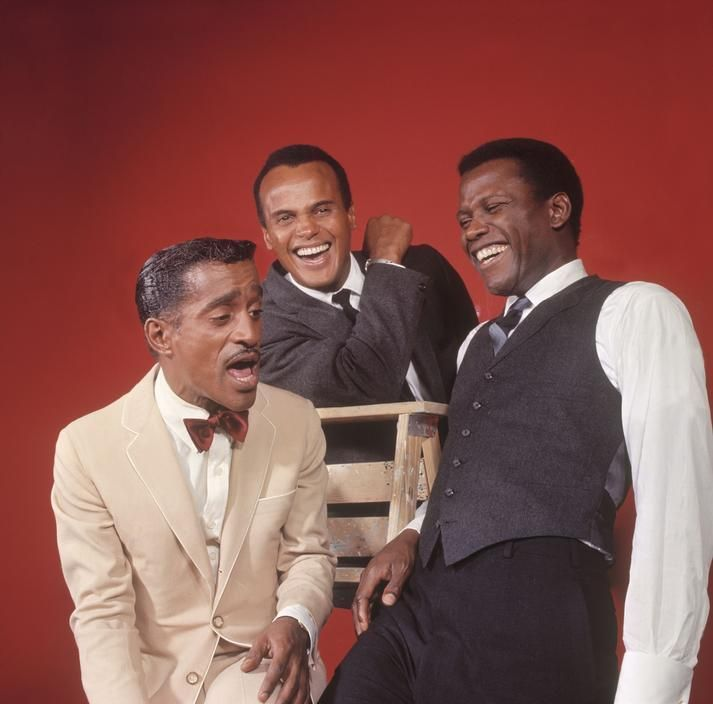 Sammy Davis Jr., Harry Belafonte, and Sidney Poitier