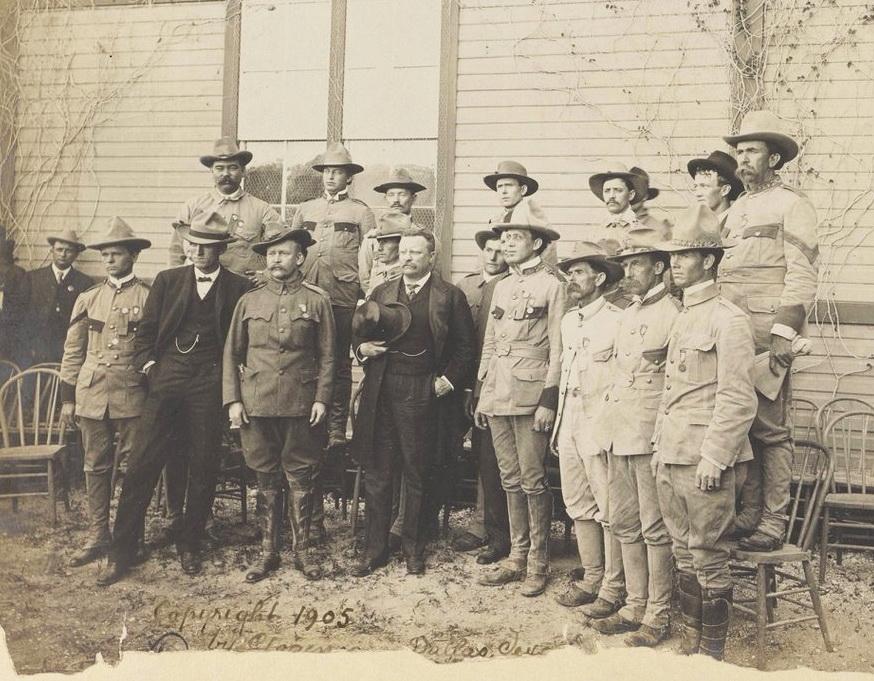 President Teddy Roosevelt and the Rough Riders, San Antonio, Texas,1905
