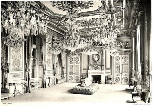 The reception room of the Hotel de la Marine,Paris