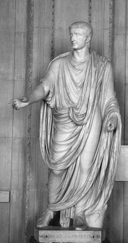 Tiberius wearing atoga