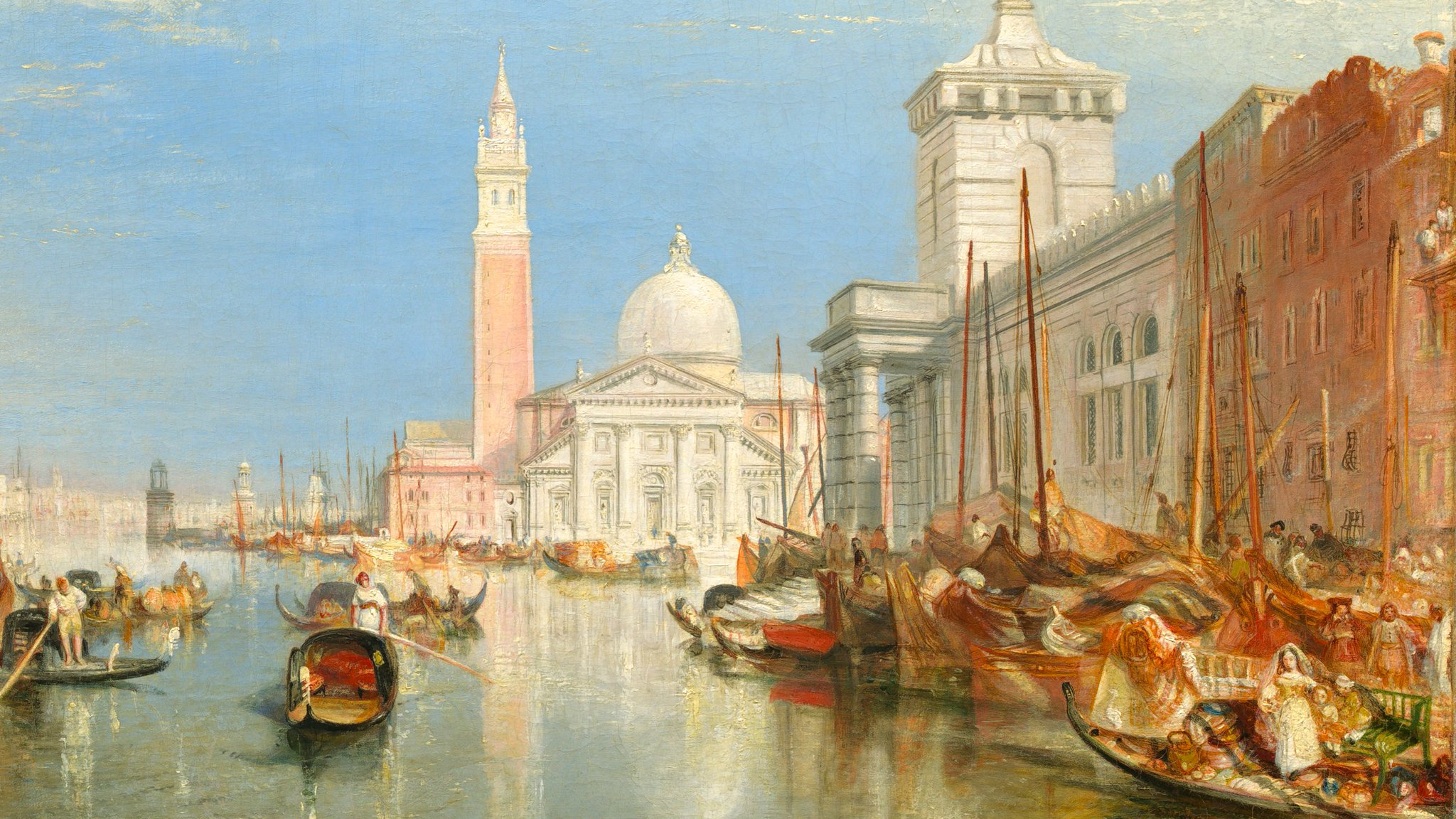 """J.M.W. Turner's """"Venice, The Dogana and San Giorgio Maggiore"""", 1834"""