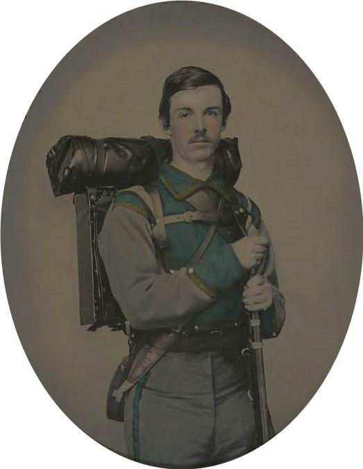 Confederate soldier, US Civil War,1860s