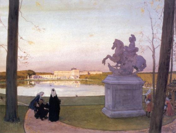 Versailles. At Curtius., 1897, Alexandre Benois
