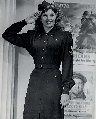 Rita Hayworth during WWII