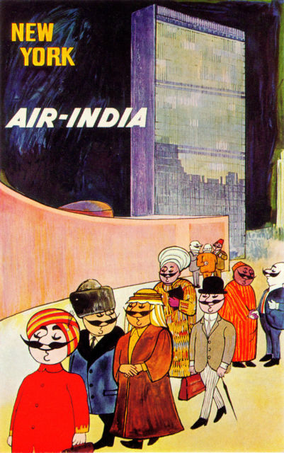 Air India ad for NYC, 1950s