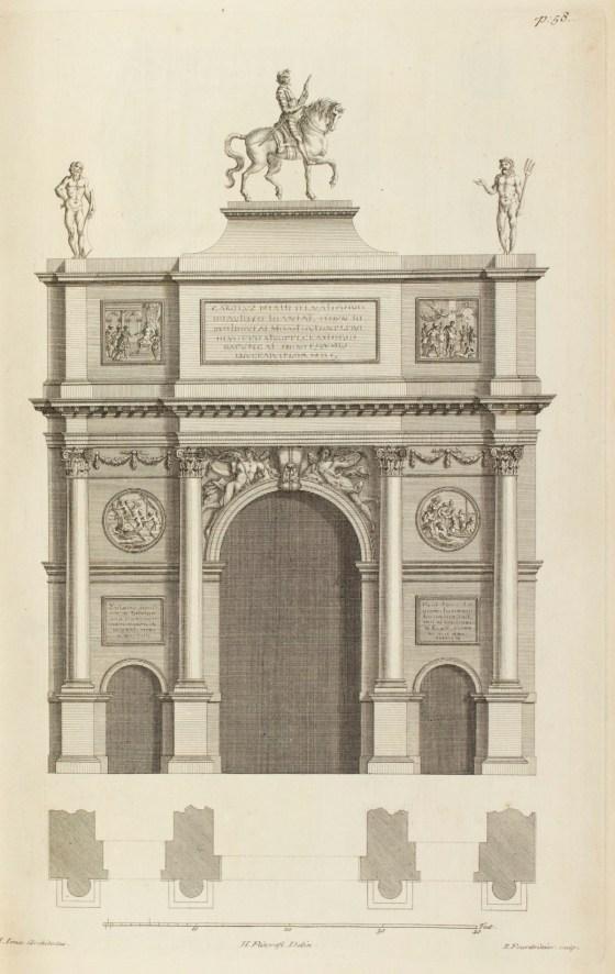 Flitcroft, Henry; Fourdrinier, Paul; Jones, Inigo; Kent, William; Design for Temple-bar, in the manner of a Triumphal Arch