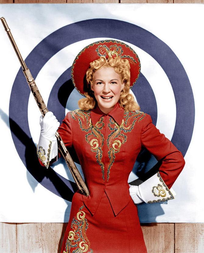 """Betty Hutton in """"Annie Get Your Gun"""",1950"""
