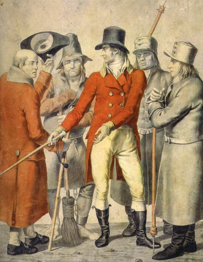 Copenhagen street figures,1807