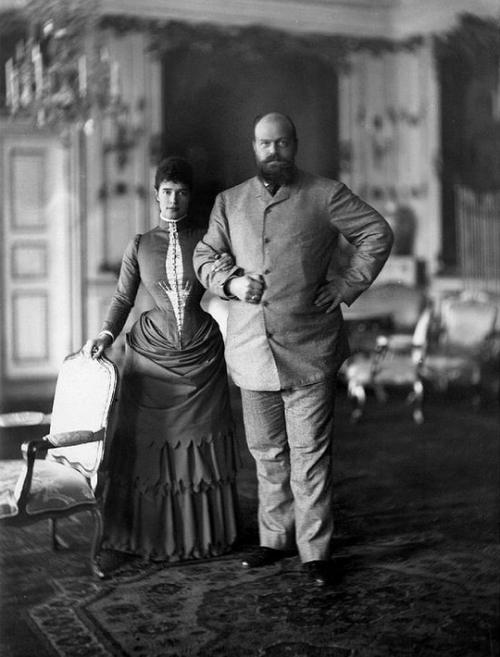 Emperor Alexander III and Empress Maria Feodorovna at Fredensborg Palace, Copenhagen, 1893.