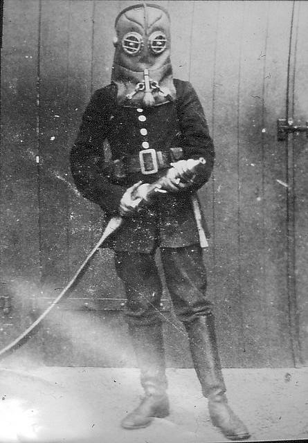 Vintage fireman