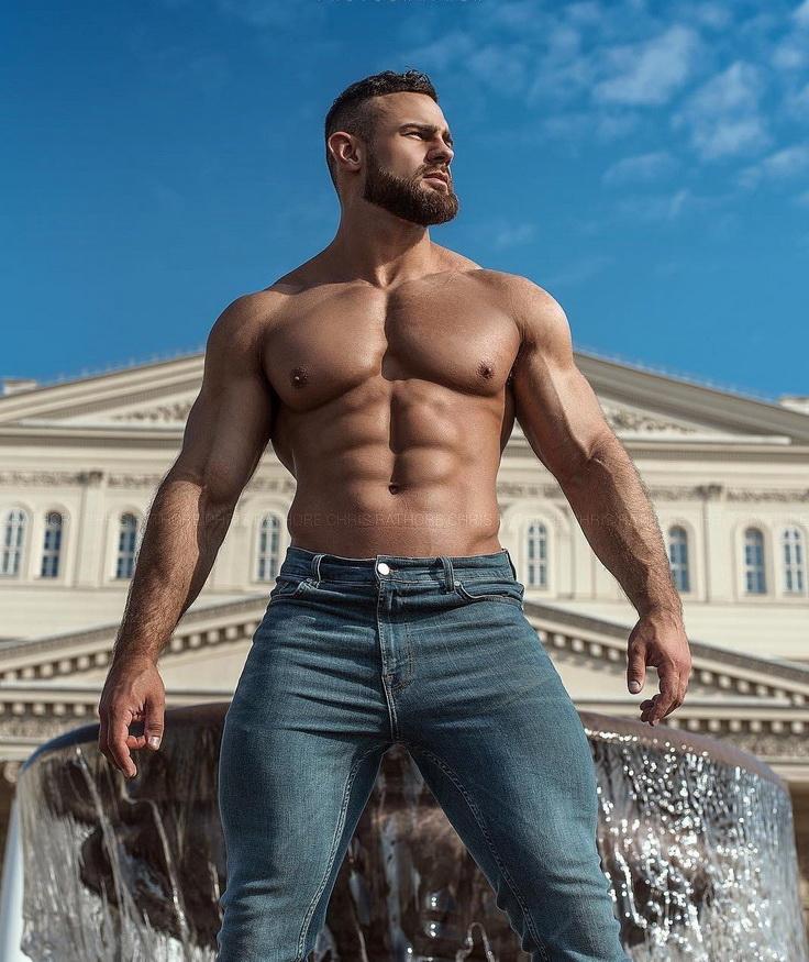 Russian model Konstantin in St.Petersburg