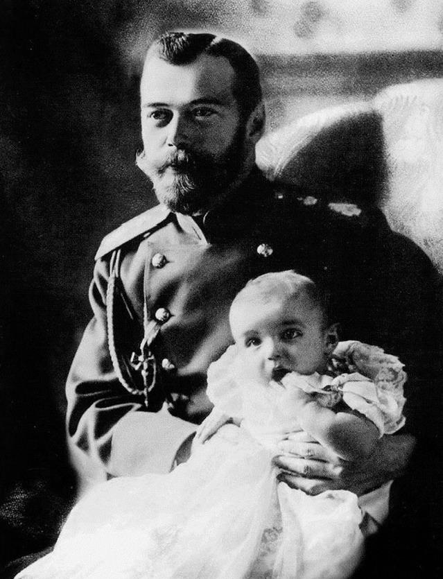 Russian Tsar Nicholas II and one of hischildren