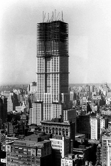 Empire State Building under construction, NYC, circa1930