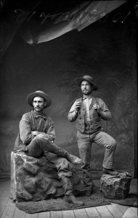 Two men, back in the days of the wildWest