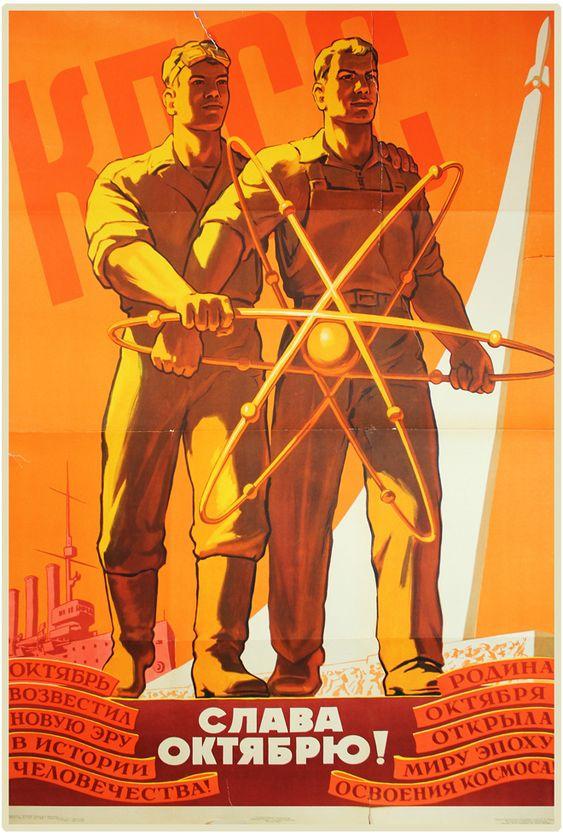 Soviet Atomic Poster