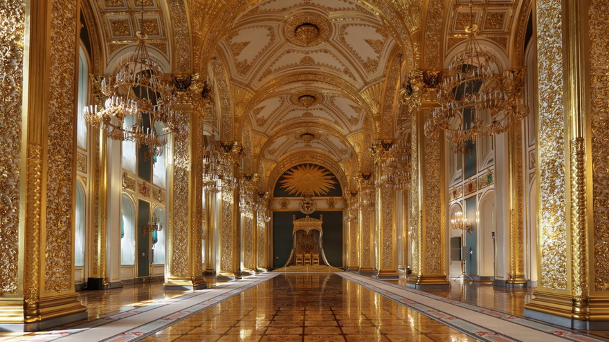 Throne Room in the Grand Kremlin Palace,Moscow