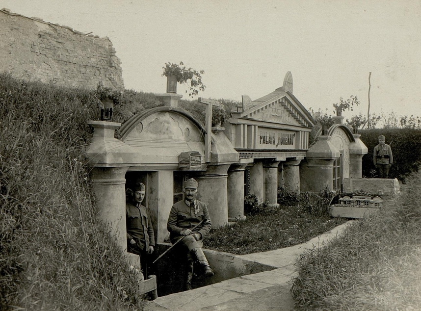French command center in WWI, deluxe accommodations in thetrenches