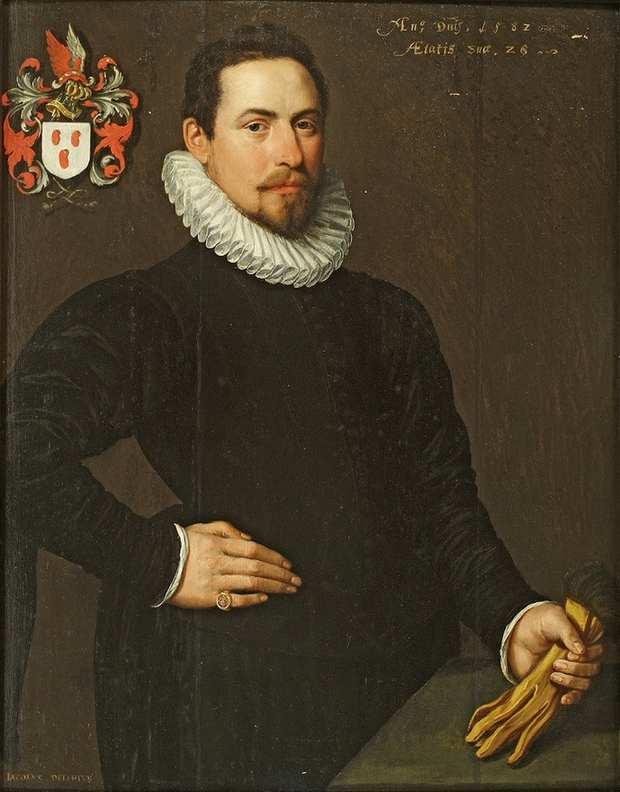 Jacob Willemsz Delff the Elder – Portrait of Anthony van Groenewegen, Netherlands, 1582