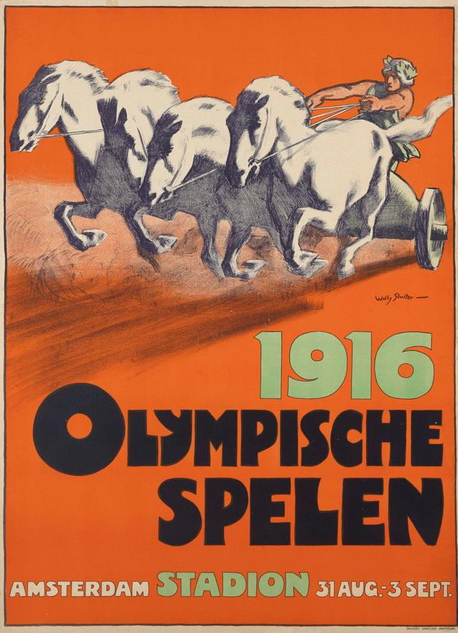 Olympische Spelen, Amsterdam,1916