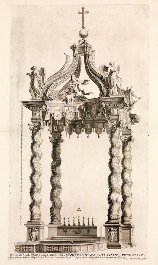 Plans for an ornate churchaltar