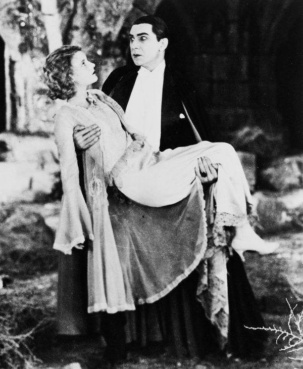"Bela Lugosi and Helen Chandler in ""Dracula"", 1931"