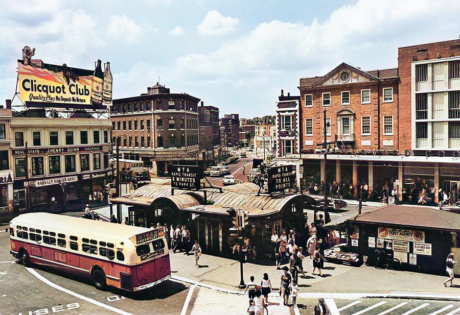 Harvard Square, Cambridge, Massachusetts, 1963