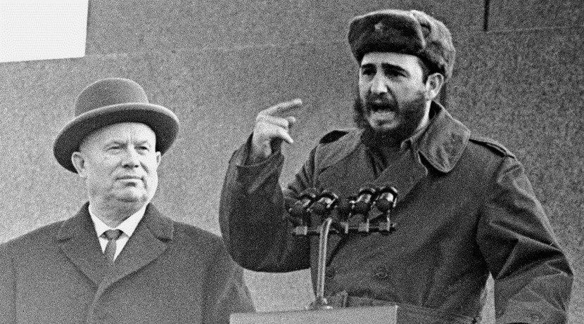 Commies of yore: Khrushchev and Castro, circa 1960