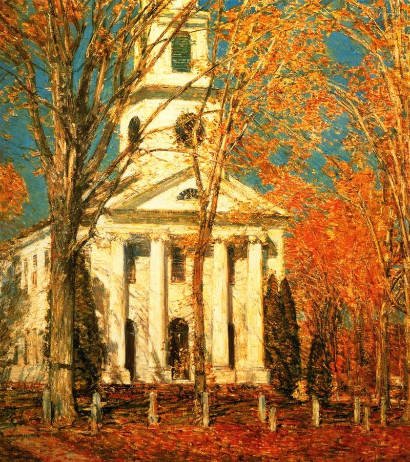 """Church in Old Lyme, Connecticut"" by Childe Hassam"