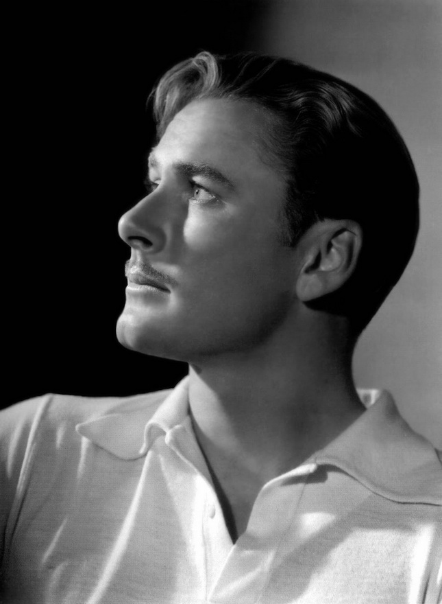Errol Flynn by George Hurrell, late 1930s