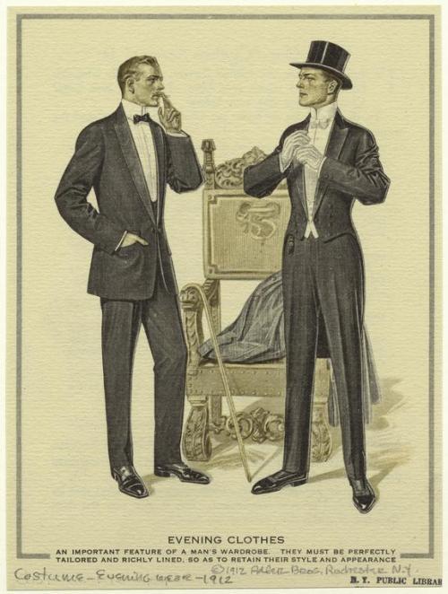 Men's Evening Wear,1912