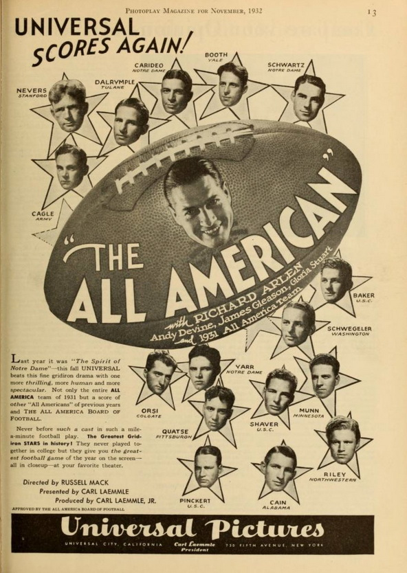 The All-American, 1931