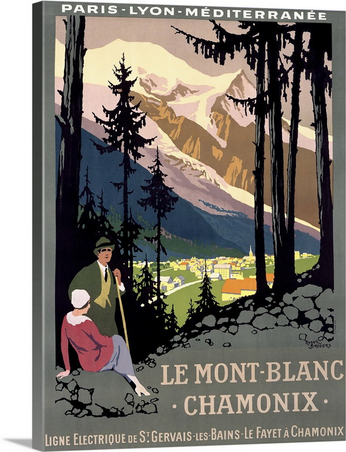 Mont Blanc/Chamonix, France, circa1920