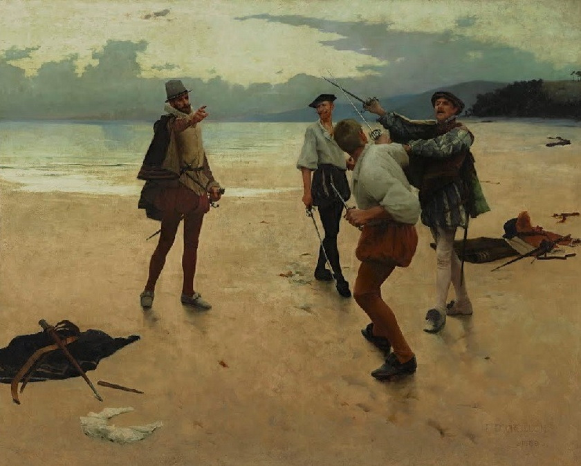 "Frank William Bourdillon – ""On Bideford Sands"", 1889"