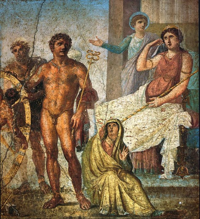Detail from a fresco at the House of Vettii, Pompeii,Italy