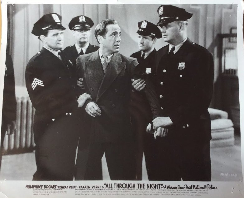 "Humphrey Bogart in ""All Through the Night"""