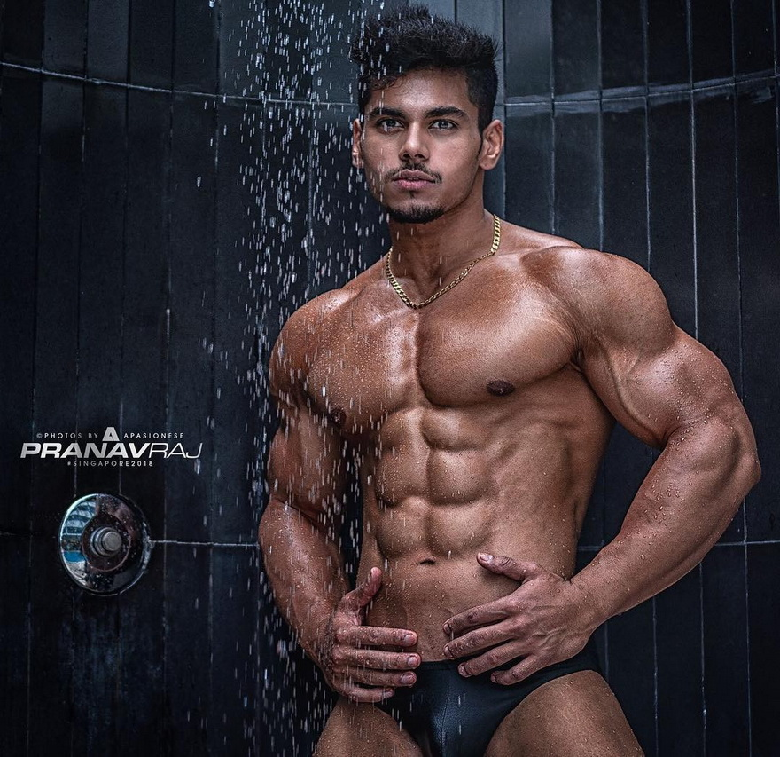 Muscular Indian model
