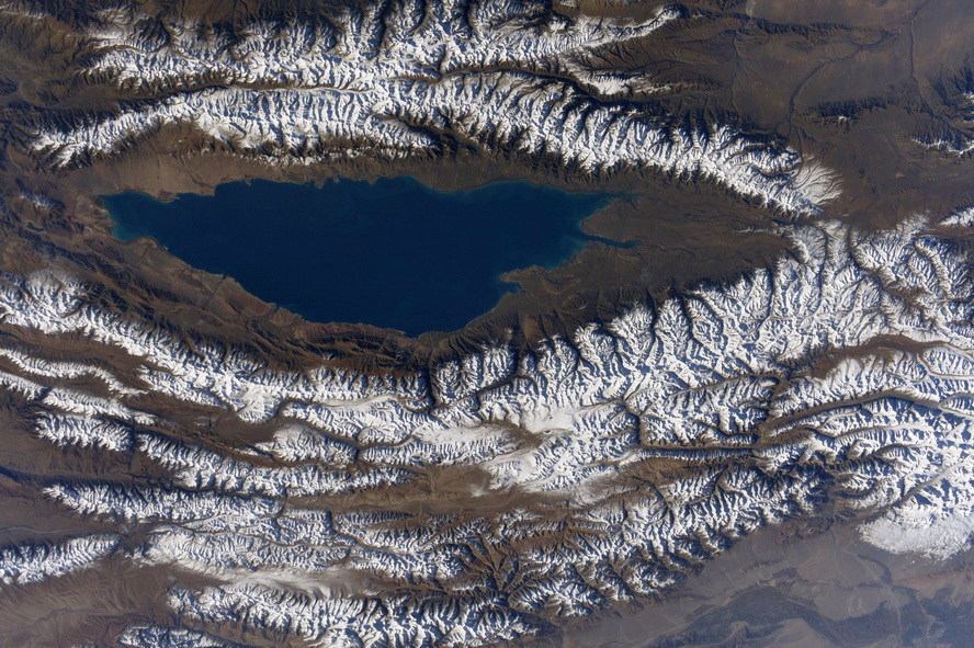 Kyrgyzstan from the International Space Station