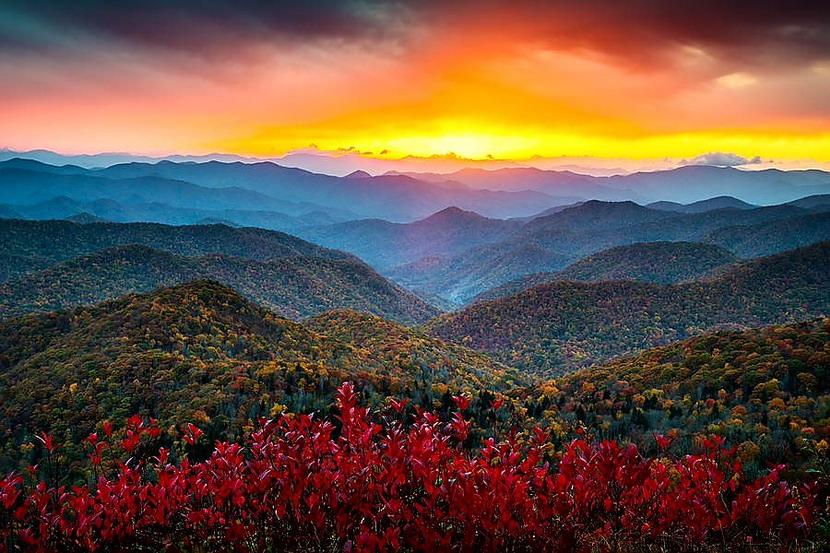 Sunset in the Blue Ridge Mountains,Virginia
