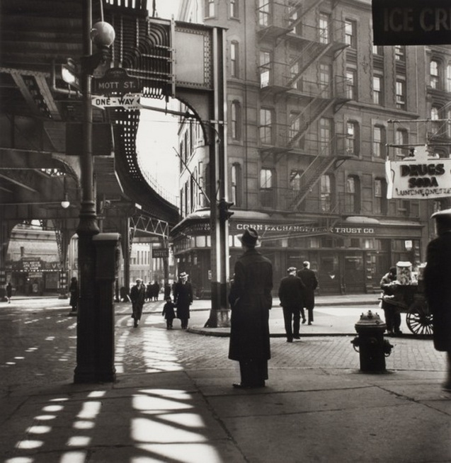 Chatham Square, NYC, by  Lee Sievan,1946