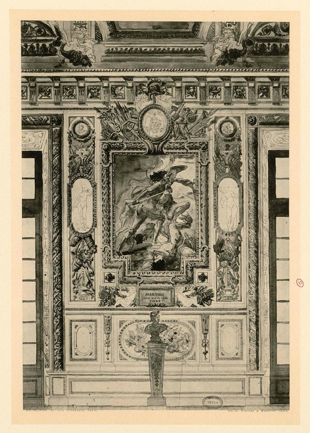 Plans for an ornate interior