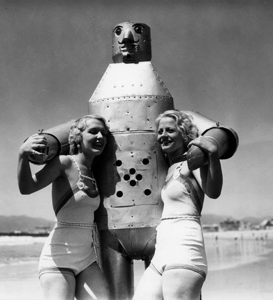 Robot and starlets,1930s