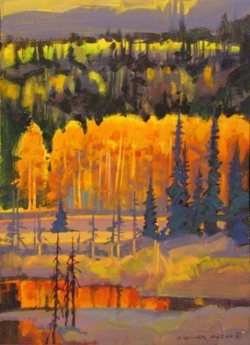 Autumn landscape painting by Stephen Quiller, Canada