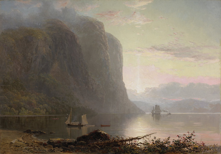Sunrise on the Saguenay, Cape Trinity (Québec), by Lucius O'Brien,1880
