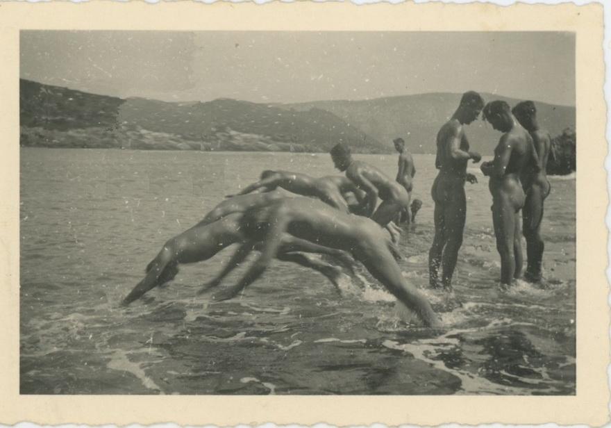 Vintage skinny dipping
