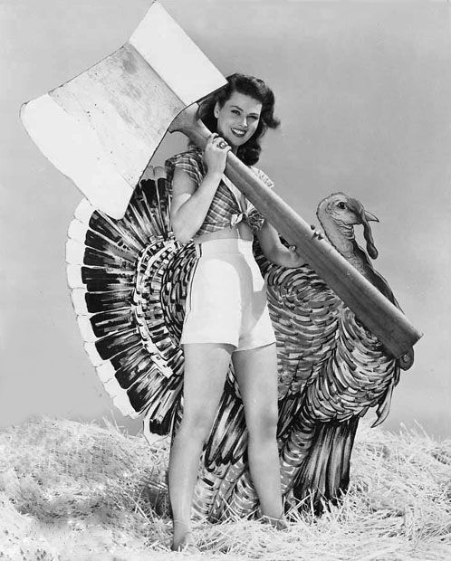 Thanksgiving pinup, 1950s